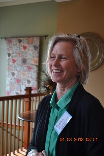 Susan Franklin at May meeting
