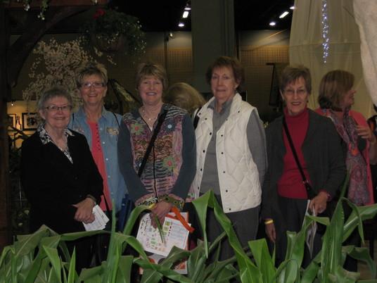 Skip, Gwen, Debbie, Pam & Carol at SE Flower Show