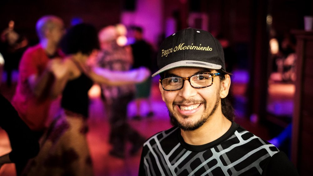 Sergio Zelaya - Sergio Zelaya, Director of Bayou Movimiento, brings 19 years of dance experience and studying into the studio! With a diverse knowledge of dance styles including: salsa, casino, bachata, cha cha, kizomba, semba, son, rumba, cumbia, and many others, he has developed progressive courses that maximize your development as a social dancer!
