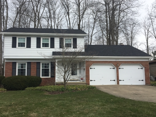 completed roofing project