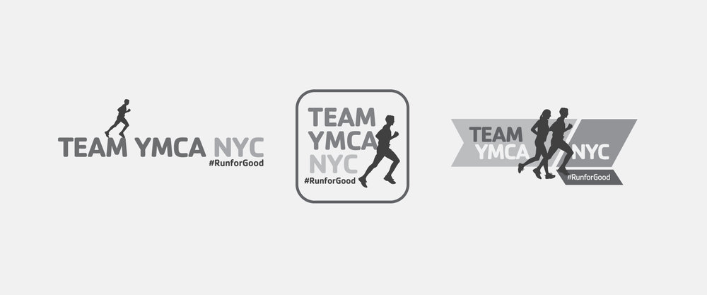YMCA TEAM MARATHON LOGO AND LOGO STUDY