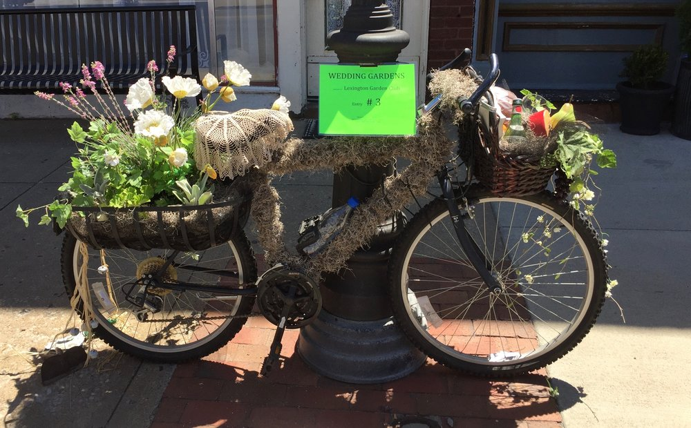 BAM (Bike Across Missouri) 2017. We held a bike decorating contest, showcasing them on Main Street. Winners of the decorating contest received a prize bike.