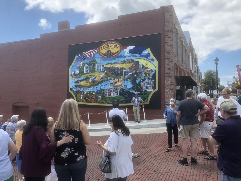 Supported refurbishing and rededication of the Lexington History mural. -Aug'18