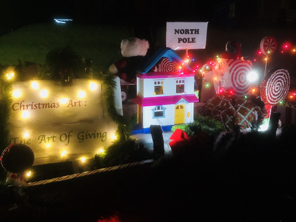 Float in the annual Lexington Festival of Lights parade on December 7, 2018
