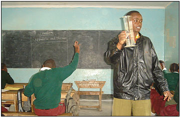 """Education - Japhet Piniel - When the Form 1 students at Ngateu Secondary School were given an English language assessment, not one of them scored above 60 percent. Still, the students are lucky, because they have Mr. Japhet Piniel on their side. """"English is a struggle for my students, but I can't accept failure. I just have to keep trying,"""" he said."""
