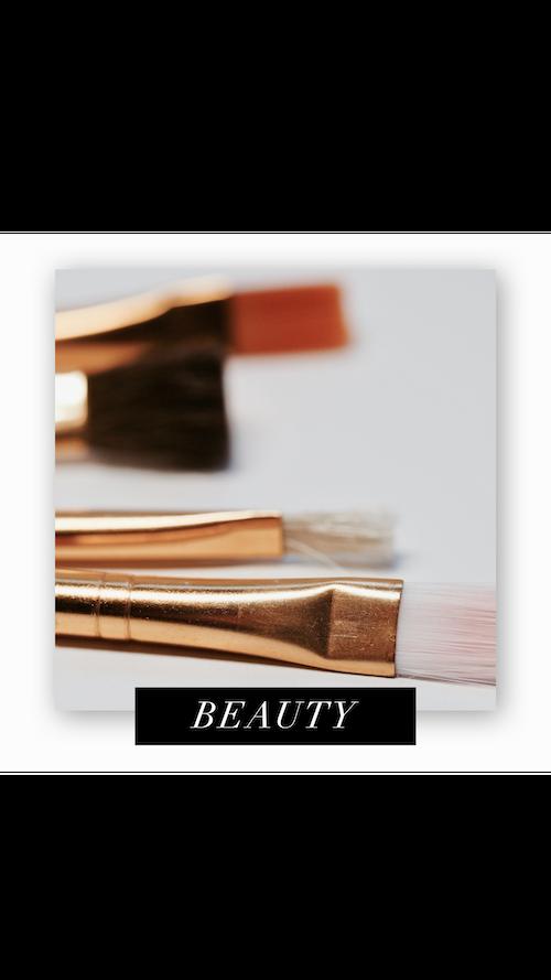CC Beauty Makeup Brushes Flat Lay