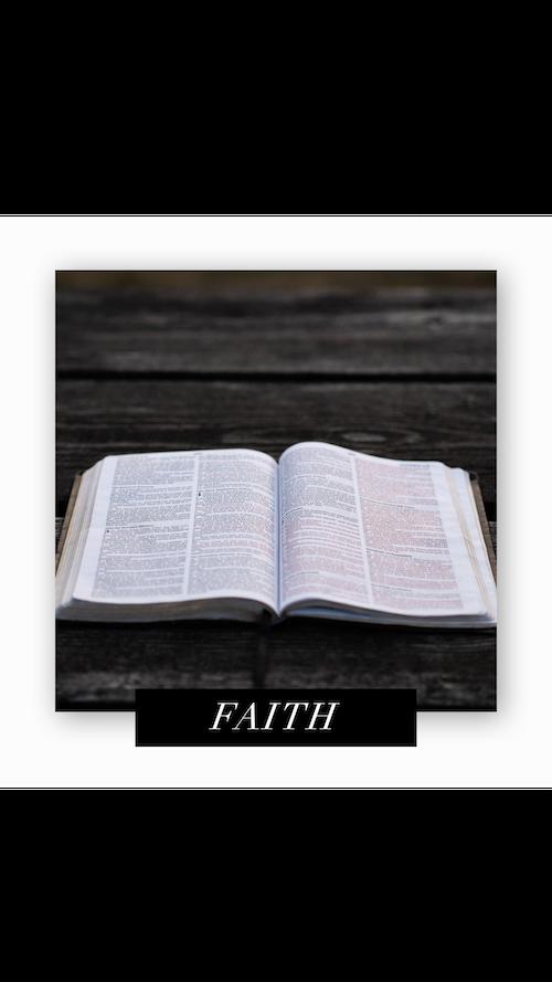 CC Faith Open Bible Wood Table