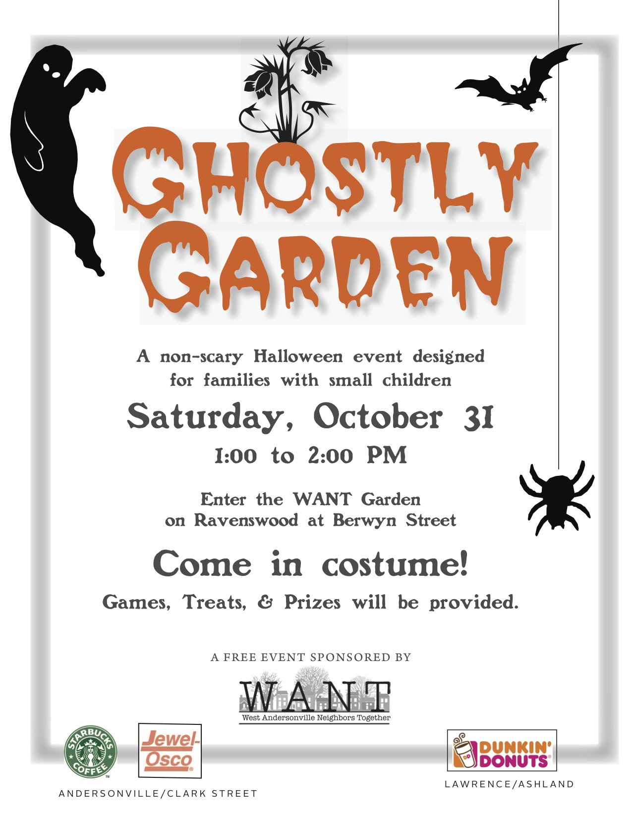 Ghostly Garden Flyer outlines