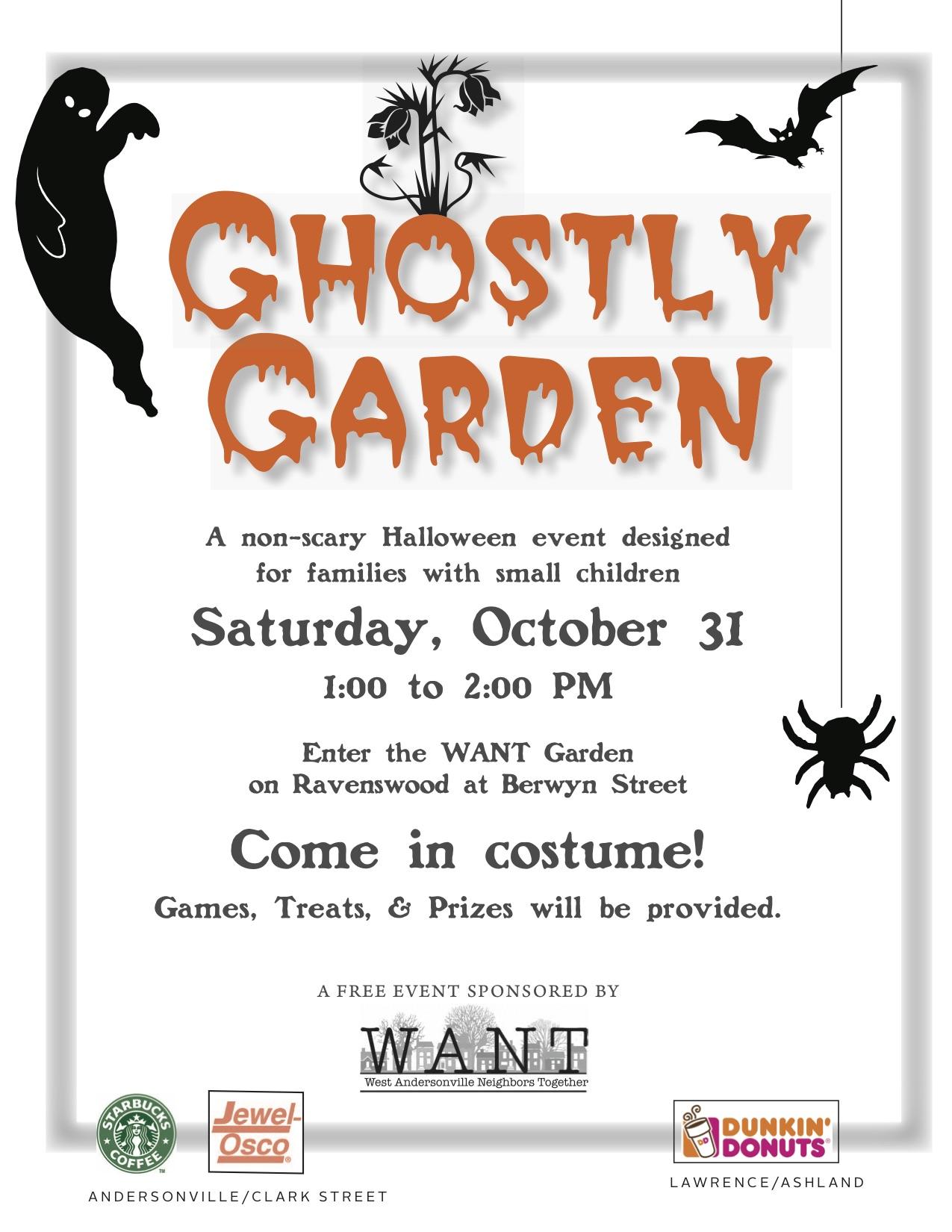 Ghostly Garden Flyer outlines