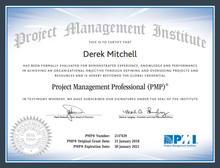 Why Pmp Certification Images - certificate design template free