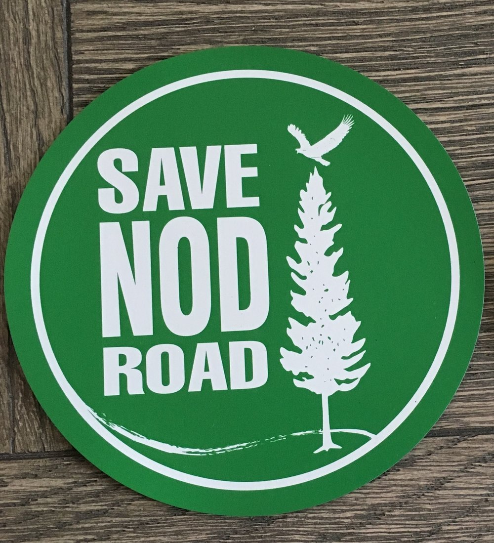 "Car Magnet - $3  We call it a car magnet but you can show your support on your mailbox or any other magnetic surface with this attractive 5"" magnet. Available for delivery in the greater Avon area (email  contact@savenodroad.org ), pick up at The Pickin' Patch daily between 9am and 5pm, or by mail for an additional .50 shipping charge."