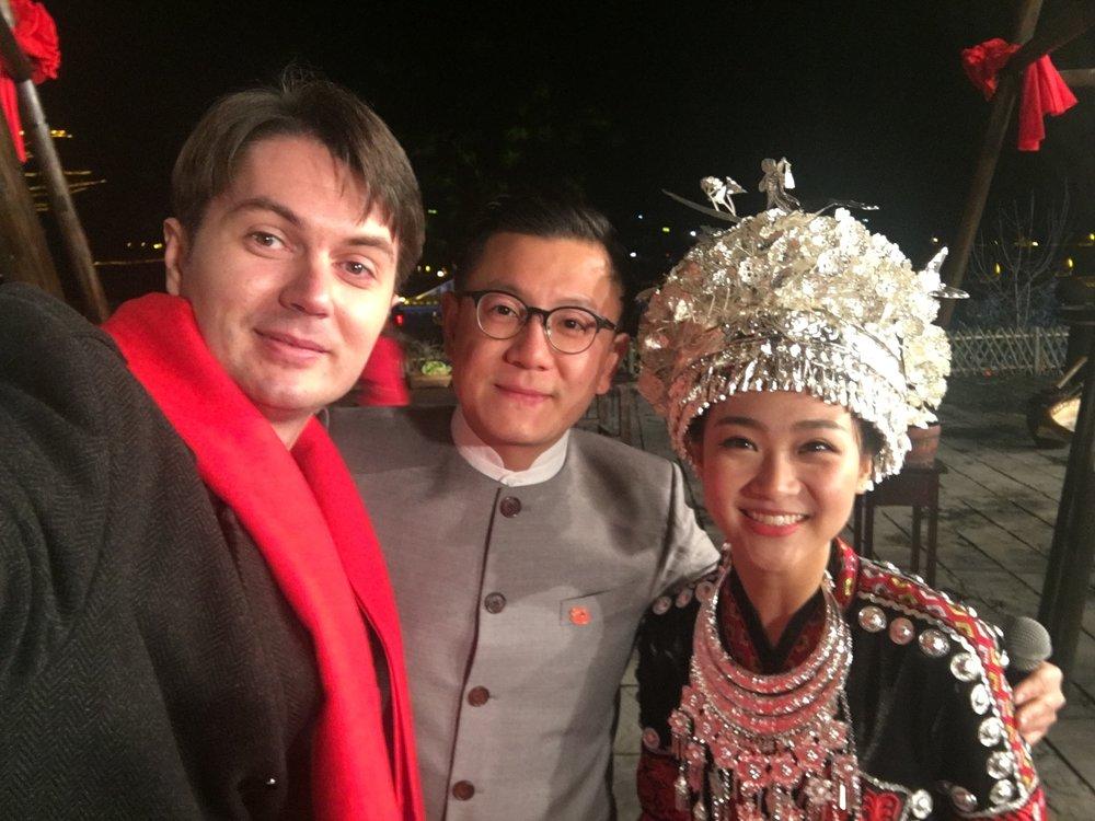 Victor Migalchan, Wang Haoyang and Liu Yuxuan