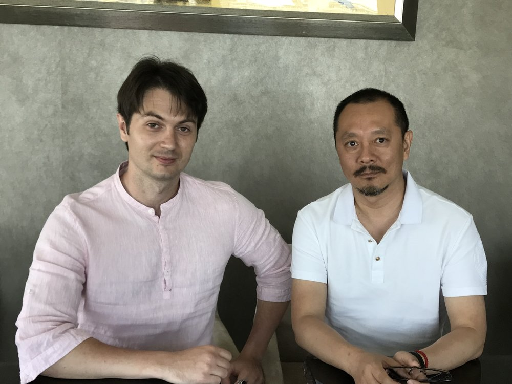 Mr Wang Weimin and Victor Migalchan