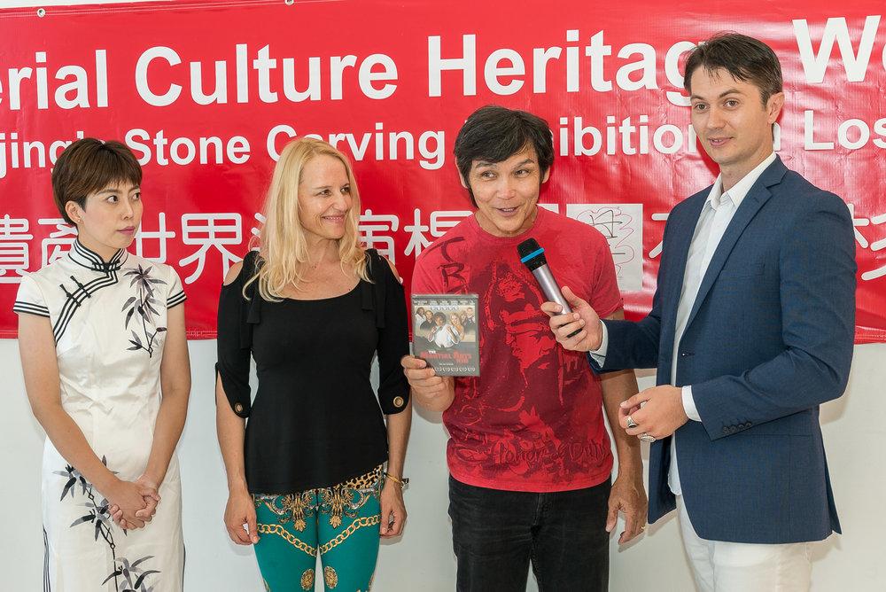 """Yang Jingjing, Daisy Lang, Don """"The Dragon"""" Wilson and Victor Migalchan"""
