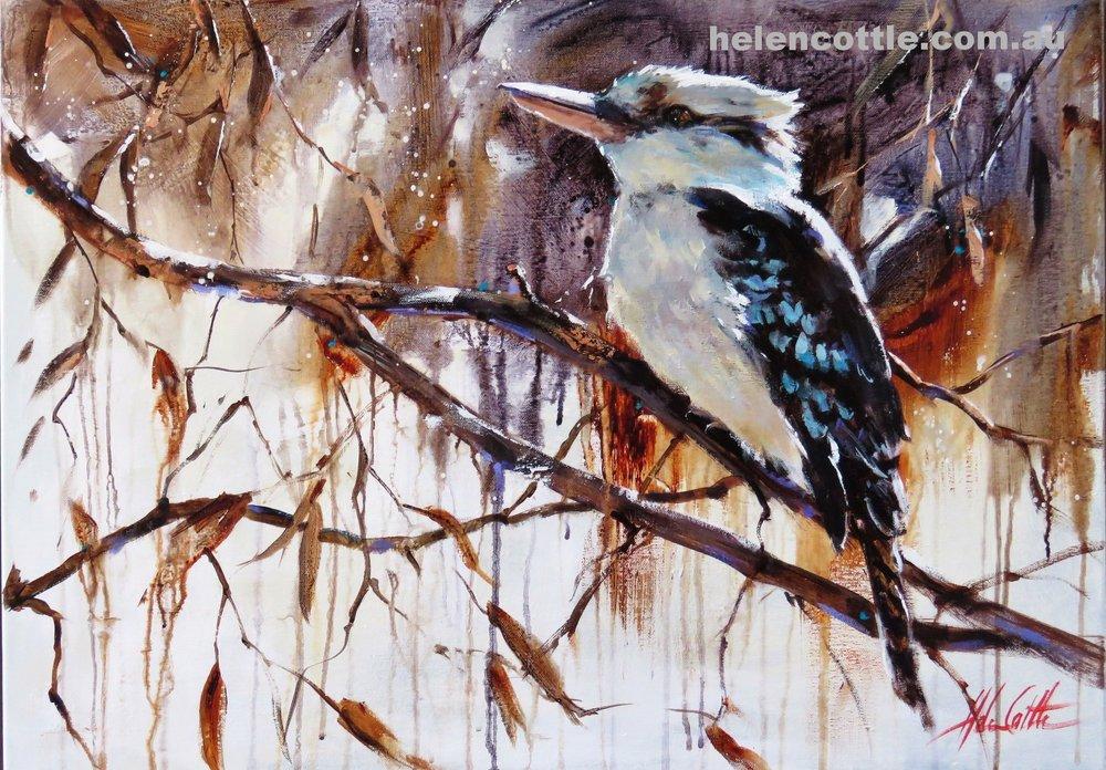 Laugh like a Kookabarra Acrylic on canvas 60x80cm by Helen Cottle.JPG