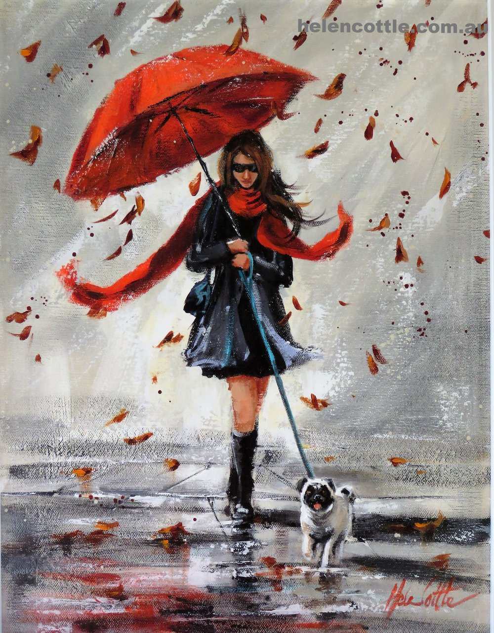 Autumn Stroll Acrylic 50x40cm By Helen Cottle.JPG