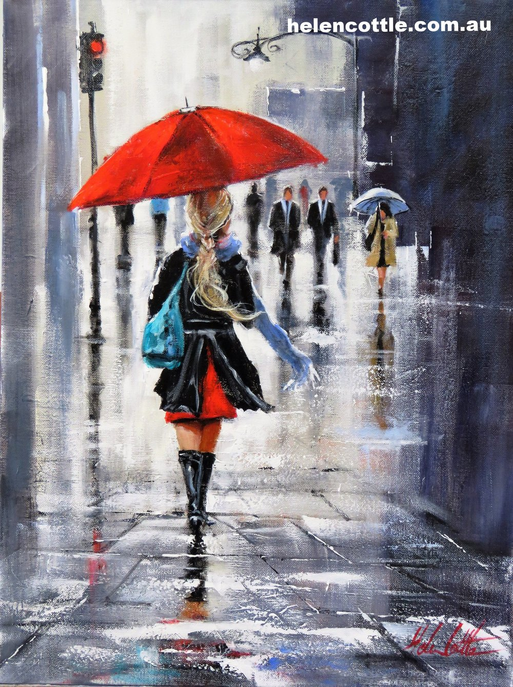 Rain in June Acrylic on canvas 75x55cm By Helen Cottle.JPG