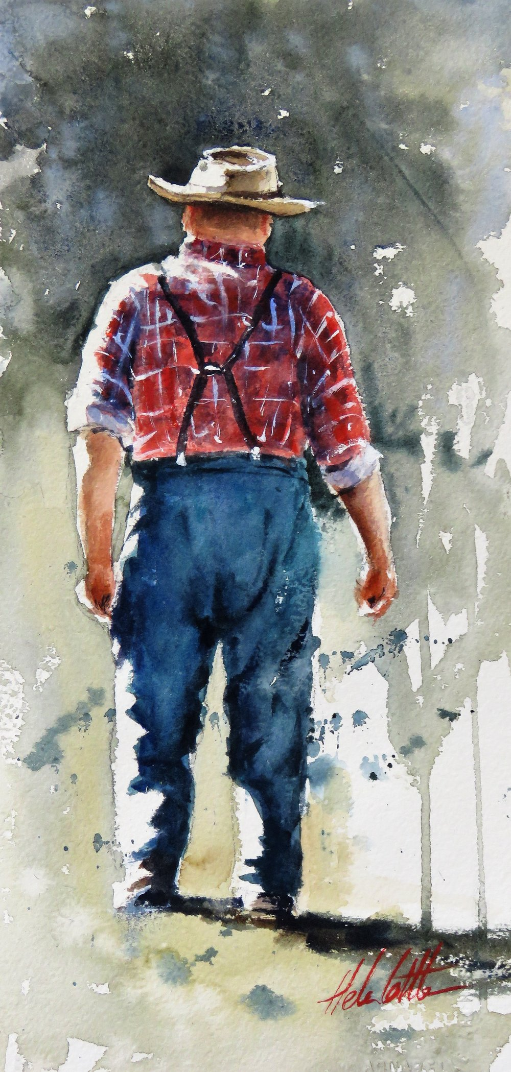 Back in my day.. watercolour 35x26cm By Helen Cottle (3).JPG