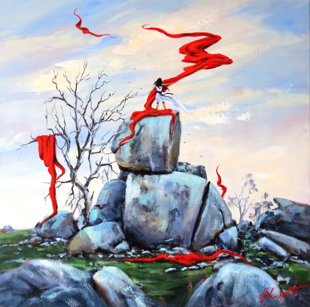 10 october Transcending Acrylic 60cm x 60cm By Helen Cottle.JPG