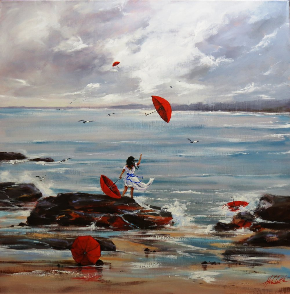 Set them free (2) Acrylic on Linen 100x100cm By Helen Cottle.JPG