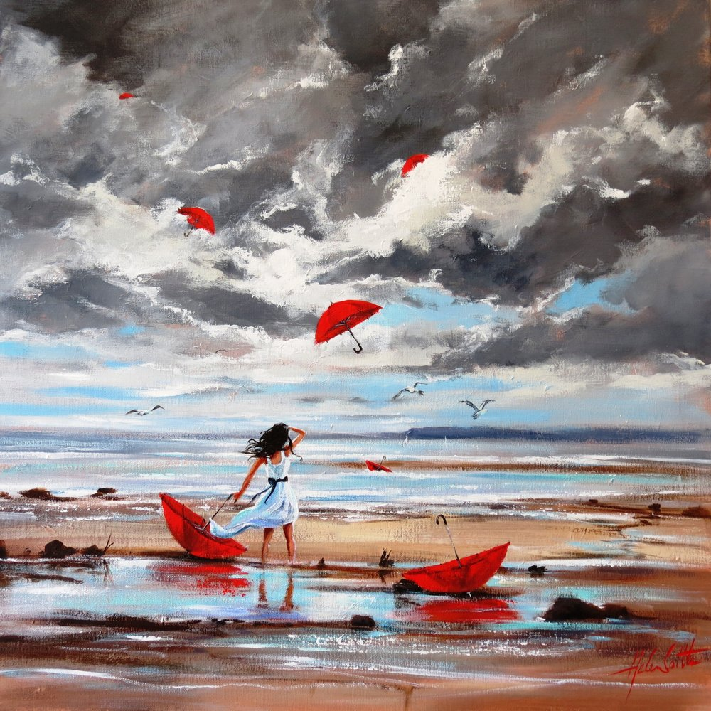 Getting carried away again. Acrylic 76x76 cm By Helen Cottle.JPG