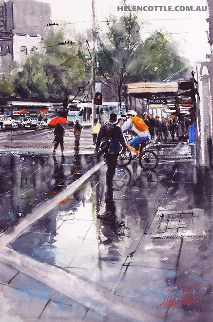 Bourke Street Reflections wc 83x63cms COPY.jpg