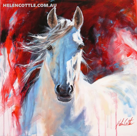 Equine inspiration. Acrylic on canvas 76x76cm By Helen Cottle COPY.jpg