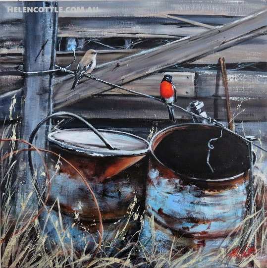 Robin's & Rust Acrylic on linen by Helen Cottle 76x76 cm COPY.jpg
