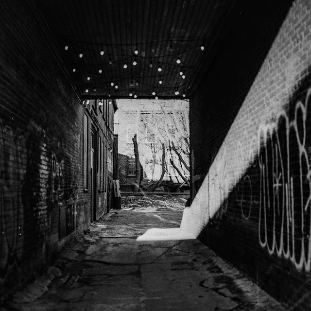 One of the coolest alleys in Peterborough. I've photographed it many times but this time with a streak of morning light . . . #120 #film #lookslikefilm #500cx #photography #architecture #ptbo #ptbocanada #downtownptbo #ontario #canada #travel #photographer #ptboexplores #streetphotography #discoverON #kawarthas #imagesofcanada #marketing #contentcreator #creative #artofvisuals #sunrise #tourcanada
