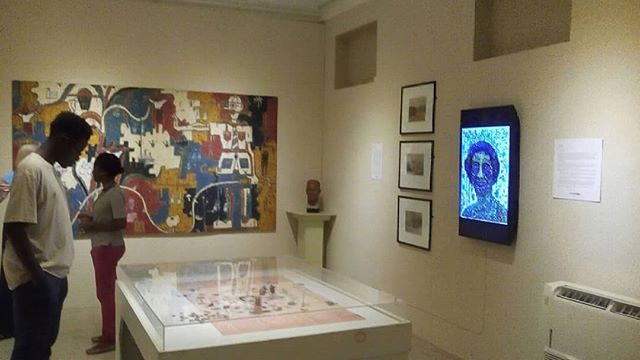 Notes from Barbados.. image of inside the Cunard Gallery, part of the Arrivants exhibition. Details shots of works by @ewanvision, Hew Locke and Ras Isni.  #barbados #arrivants #arrivantsexhibition #ewanatkinson #hewlocke #rasisni #contemporaryarts #art