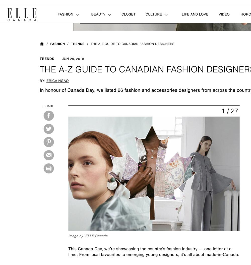 Elle Canada Online, Middle Image - June 2018