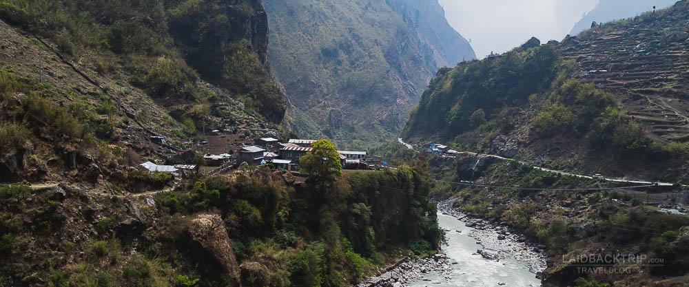 annapurna circuit trekking   marshyangdi valley   besisahar to chame   part 1   collage 3   laidback trip