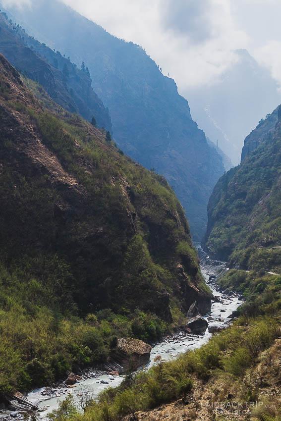annapurna circuit trekking   marshyangdi valley   besisahar to chame   part 1   collage 1   laidback trip
