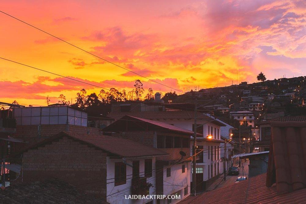 The view from Casa Kuelap Hostal terrace