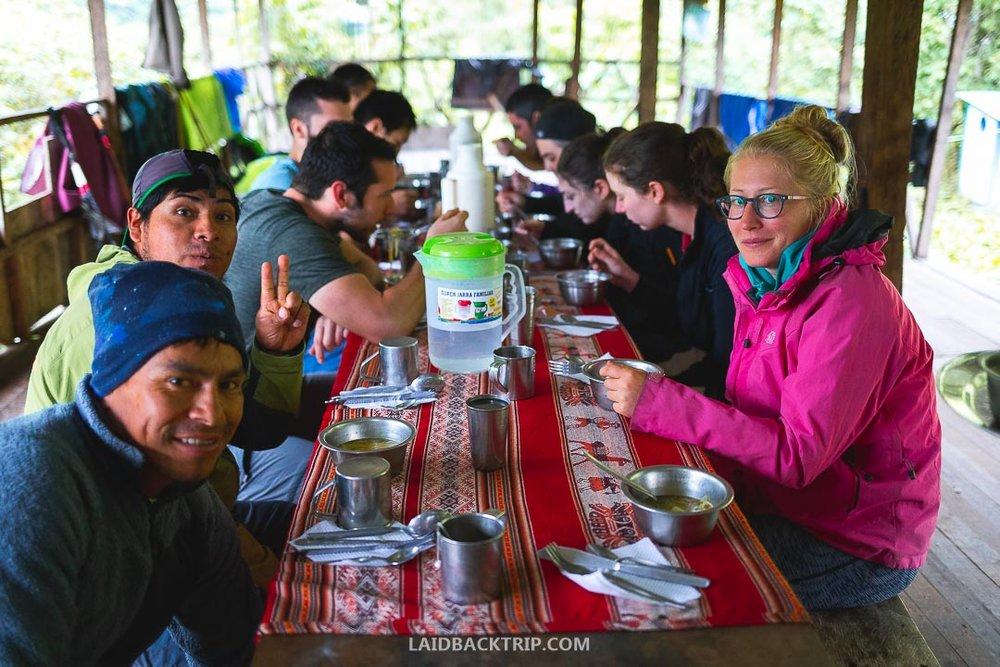 English speaking guide is great to have when hiking Salkantay Trek