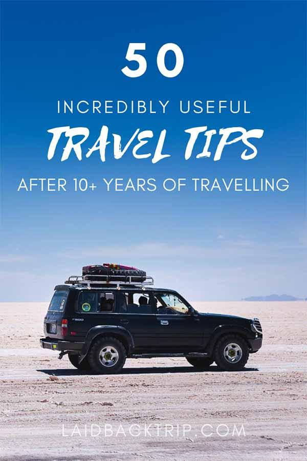 50 Incredibly Useful Travel Tips