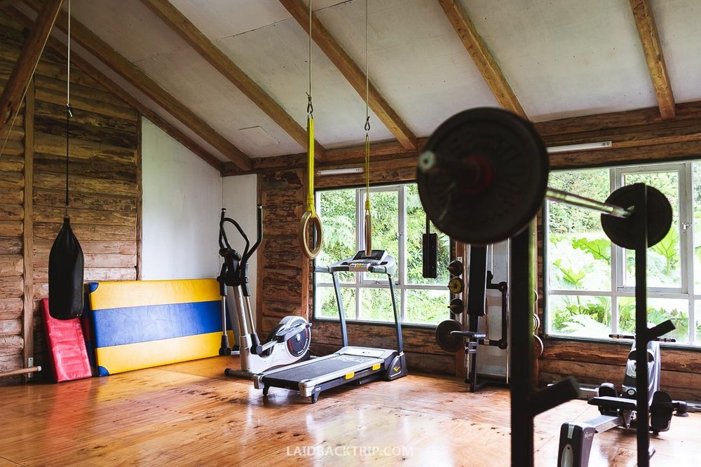 Fitness center is well equipped and perfect for morning yoga or exercise