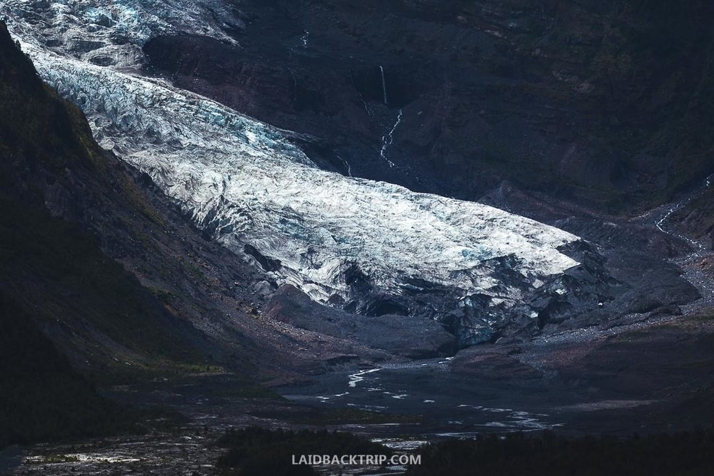 View of the glacier in Pumalin is breathtaking, and the round trip hike takes about three hours.