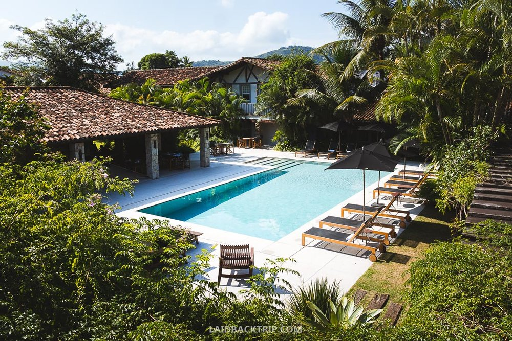 You will find all range of accommodation in Paraty, our favorite was staying in luxury Pousada Literaria de Paraty.