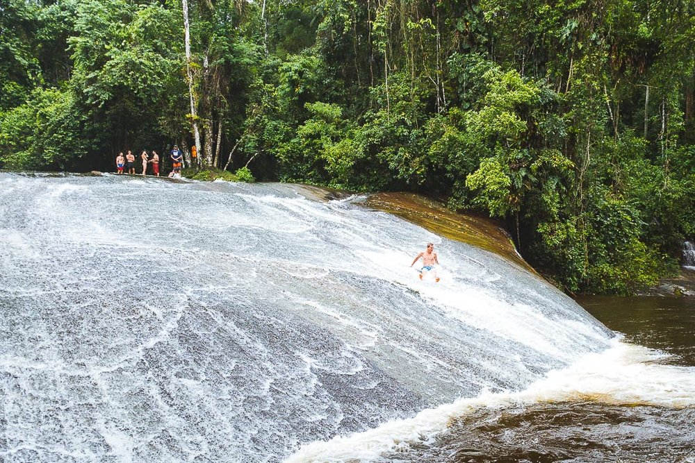 Cachoeira de Paraty is a waterfall close to the town and extremely fun activity you can do while exploring the surroundings.