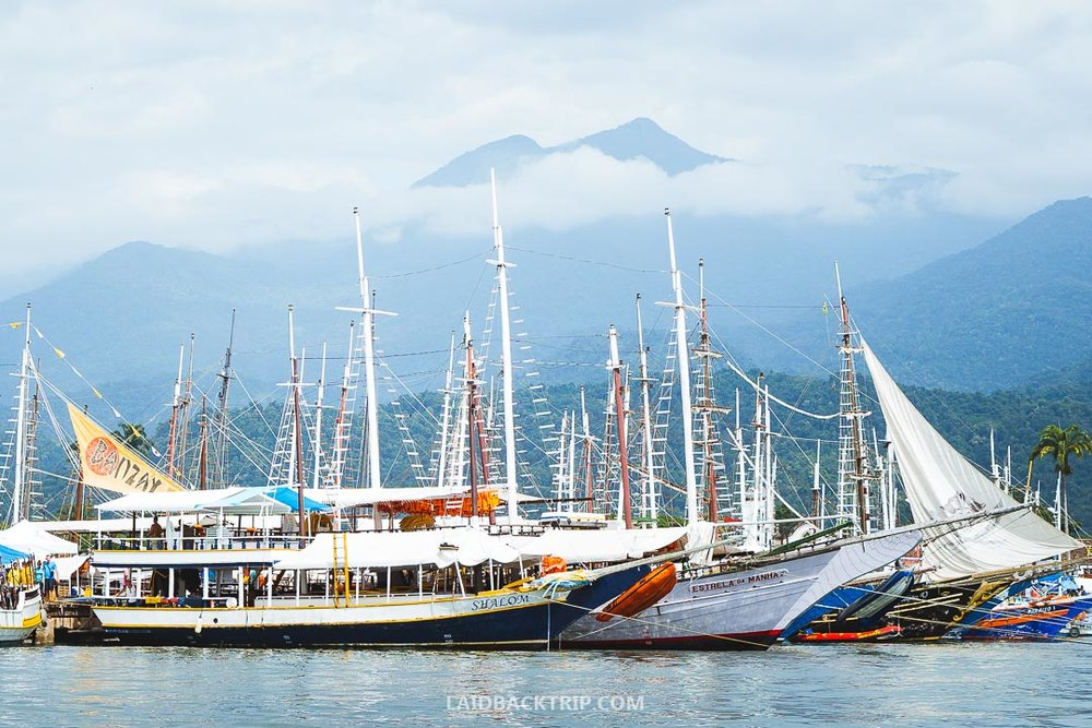 Island hopping is a fun activity to do in Paraty.