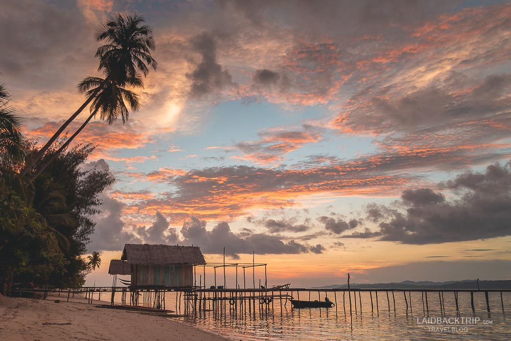 Raja Ampat has one of the most beautiful sunsets in the world.