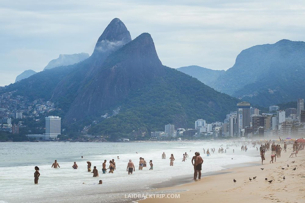 Copacabana beach is the most iconic place in Rio de Janeiro.