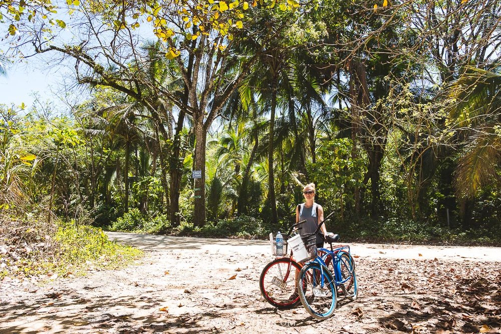 The easiest way how to get around the island is by bike.