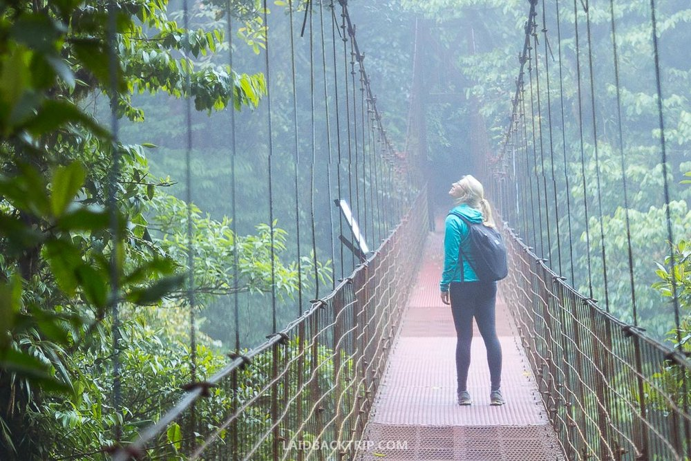 You can take a tour to Hanging Bridges in Boquete.