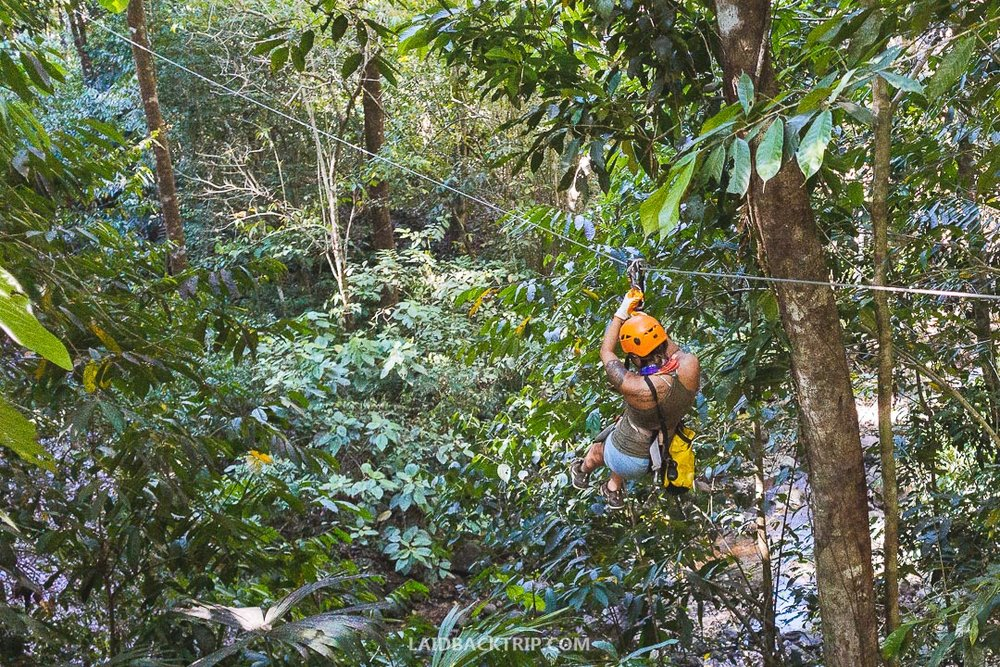 You can do fun activities in Boquete like ziplining or hiking.