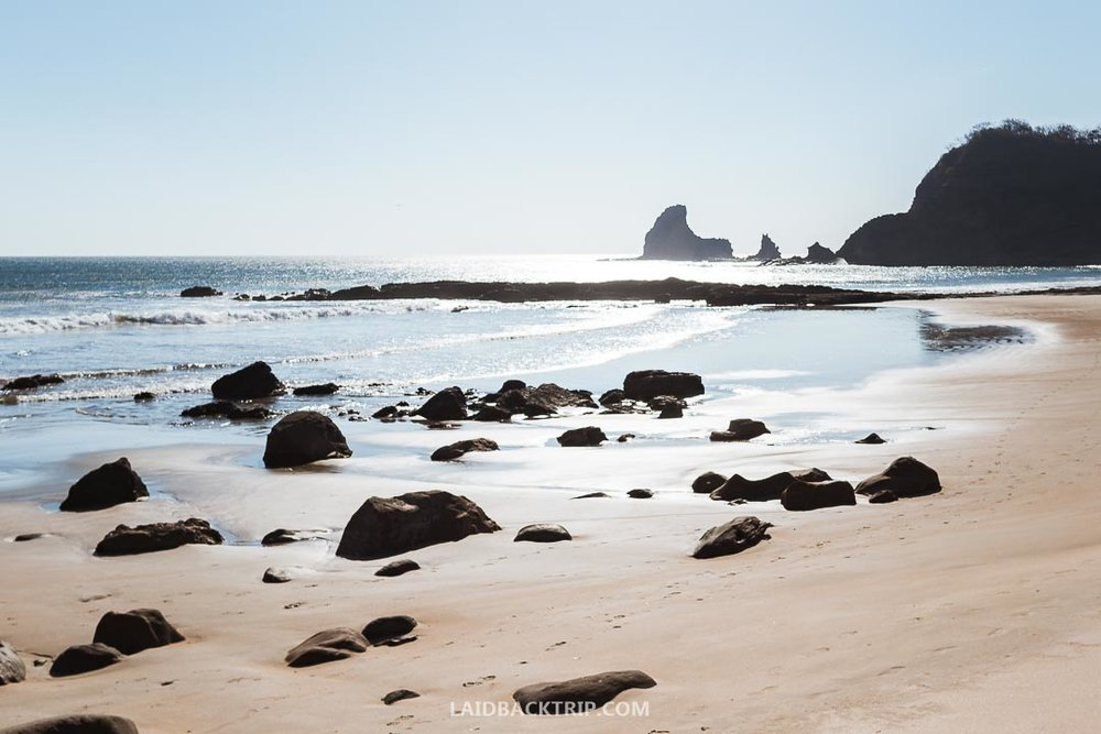 Beaches in San Juan del Sur are without crowds of tourists.