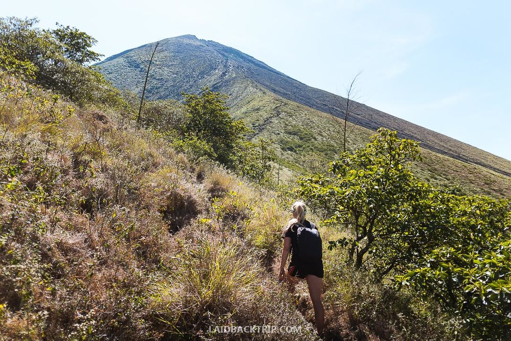 At least a moderate level of fitness is required to hike the Concepcion Volcano.