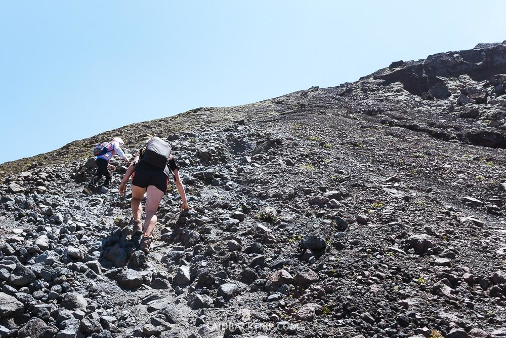 You need to have a guide to hike the volcano.