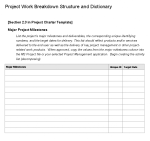 WBS Worksheet